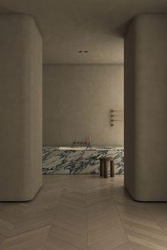 Studios Architecture, Architecture Design, Arabescato Marble, Warm Color Schemes, Virtual Staging, Kitchen Mixer Taps, Interior Design Studio, Bathroom Interior, Bathroom Grey