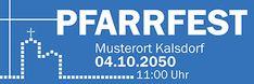 Wählen Sie aus unseren gratis Vorlagen und drucken Sie jetzt #onlineprintXXL #werbebanner #pfarrfest #kirche #blau #kreuz