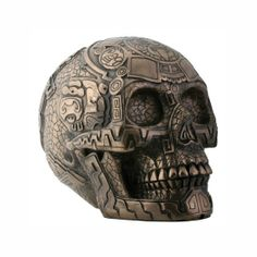 I WANT!!!!!!!!!!!!    Bronze Aztec Skull by Summit Collection