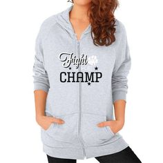 Fight Champ Zip Hoodie (on woman)
