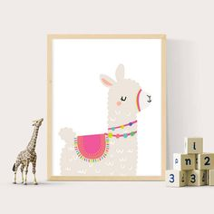 Llama printable art ** INSTANT DOWNLOAD ** The files will be delivered electronically within minutes of your order and payment. An email will be sent to the address you have associated with your Etsy account with a link for your download. YOU WILL RECEIVE: - 1x high resolution (300