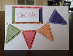 Petite Pennants in In Colour DSP with Sassy Salutations sentiment.