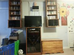 My new custom made (by me) entertainment center