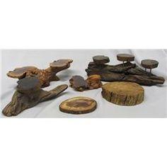 4 Redwood Handmade Jewelry & Art Display Stands