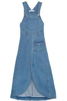 Blue denim Hook-fastening shoulder straps 98% cotton, 2% elastane; pocket lining: 100% cotton Dry clean Made in Italy