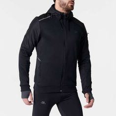 Jachetă Alergare Run Warm+ Negru Bărbaţi KALENJI - Decathlon.ro Decathlon, Jogging, Athletic, Warm, Running, Clothing, Outdoor, Fashion, Walking