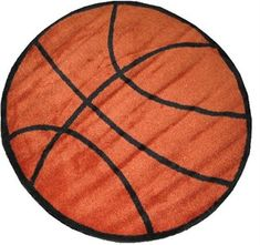 Basketball Area Rug For Kids - bet i can make this into a blanket. hmmm...