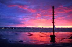 rimini #sea #red #purple #sky #backlight #photo #tommymorosetti