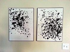 Oh, this looks FUN! DIY Ink Splatter Wall Art by GypsyWife -Momo