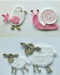 ✔ Handmade Toys For Babies Free Pattern Marque-pages Au Crochet, Crochet Amigurumi, Crochet Motifs, Love Crochet, Crochet Toys, Crochet Baby, Doilies Crochet, Crochet Teddy, Crochet Elephant Pattern