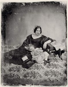 Mother and child - Southworth and Hawes, Boston, 1850s