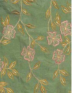 Pink Floral Silk