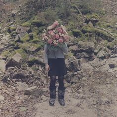 flower person; Amira fritz http://www.blog.designsquish.com/index.php?/site/amira_fritz_forests_flowers_and_people/