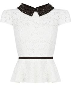 Peplum top by Karen Millen I can't describe how much I love this. Want. Want. Want.