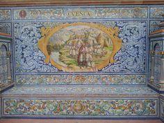 Plaza de España de Sevilla, azulejo correspondiente a la provincia de Cuenca