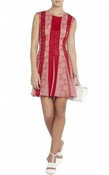 Jalena Lace Short A-line BCBG Cocktail Dress