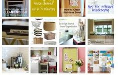 Homemaking tips organization cleaning and more!