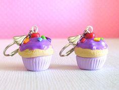 Cute Earrings For Teens | Earrings, Purple Rainbow, Cute Miniature Food Polymer Clay Earrings ...