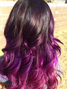 pink and purple ombre hair - Google Search