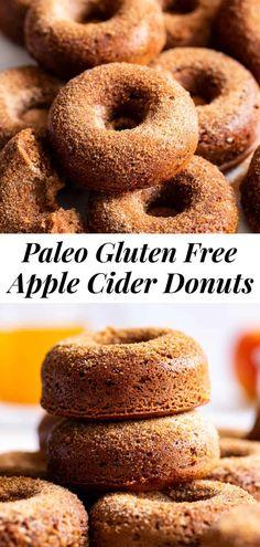 Paleo Sweets, Gluten Free Sweets, Paleo Dessert, Healthy Desserts, Healthy Brunch, Healthy Eats, Paleo Donut, Healthy Donuts, Paleo Baking