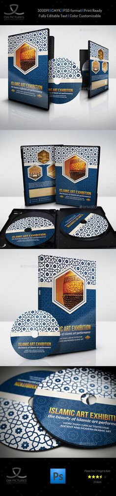 Islamic Art Exhibition DVD Cover and Label Template — Photoshop PSD #antique #profet • Available here → https://graphicriver.net/item/islamic-art-exhibition-dvd-cover-and-label-template/15989427?ref=pxcr
