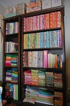 Look at that fabric stash!! by juanita