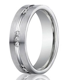 Designer 950 Platinum Channel Set Diamond Men's Wedding Ring | 6mm