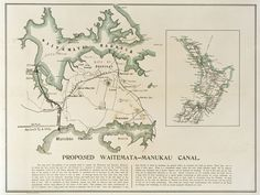 c1903. A map of Auckland showing the proposed Whau canal connection the Waitemata and Manukau harbours. Sir George Grey Special Collections, Auckland Libraries, NZ Map 6231.