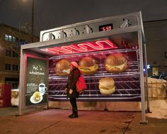 Cold Bus Commuters Warm Up in Hot Breakfast Ad