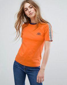 6acddcf2df4 Shop Umbro T-Shirt With Tape Logo at ASOS.