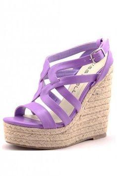 Purple wedge, summer shoes ideas.