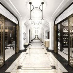Ideas Art Deco Hotel Lobby Floors For 2019 Design Hotel, Lobby Design, Art Deco Hotel, Hotel Decor, Wellesley Hotel, Floor Design, House Design, Arte Art Deco, Luxury Collection Hotels