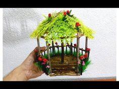 How to make beautiful fairy wood tree house Fairy Tree Houses, Fairy Garden Houses, Fairy Crafts, Garden Crafts, Fairy Garden Furniture, Beautiful Fairies, House Beautiful, Diy Crafts Hacks, Wood Tree