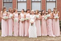 Beautiful pink bridesmaids dresses!   Hannah and Adam   It Takes Two Events