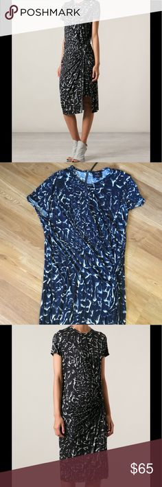 Helmut Lang Strata print Uneven Hem dress size s Helmut Lang dress in nice preowned condition size s Helmut Lang Dresses Midi