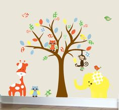 Childrens wall decal owl nursery wall sticker by couturedecals