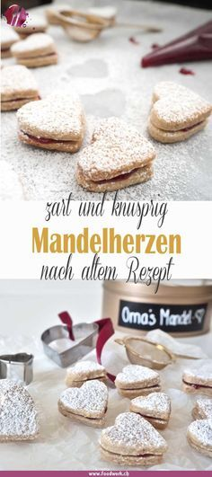 Omas Mandel Herzen, so backen wir am liebsten Christmas is just around the corner and in many places Cookies And Cream Cake, Cake Mix Cookies, Cookies Et Biscuits, Chip Cookies, Cupcakes, Cookie Recipes From Scratch, Easy Cookie Recipes, Baking Recipes, Healthy Recipes