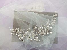 Pearl Headpiece, Pearl Hair, Crown Hairstyles, Wedding Hairstyles, Wedding Hair Accessories, Hair Comb, Hair Jewelry, Hair Band, Vines