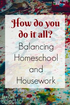 """I've had several people ask me that question lately. How do you do it all? I'm assuming """"all"""" entails the housework, and the homeschooling, and my hubby being in grad school, and just life in general with 5 little people in tow. I was reading that quest"""