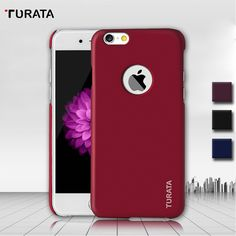 Turata Brand Cases for iPhone 6 6S Luxury Silky Coated Ultra Thin Hard Plastic Protective Cover Case for iPhone 6 Plus / 6S Plus