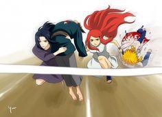 Omg just look at Minato and Fugaku, hilarious! :D #naruto #funny