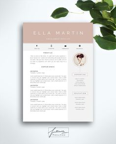 Curriculum vitae template three web page resume template cowl letter Immediate obtain for MS Phrase quotEllaquot Portfolio Covers, Portfolio Resume, Portfolio Design, Portfolio Web, Cv Design, Resume Design, Layout Design, Graphic Design, Cv Resume Template