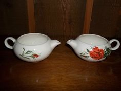 American Beauty - Red Rose - Vintage China - 1 piece Creamer AB3 lot #2