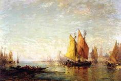 In Harbor, by Felix Ziem