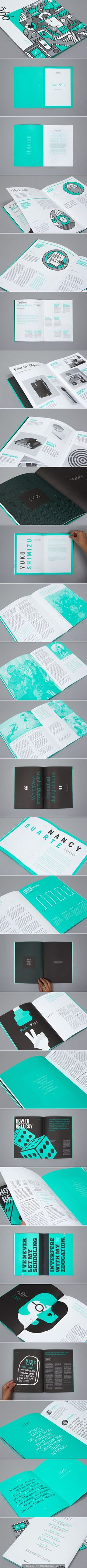 Quarterly Magazine - Issue / Editorial and graphic design with iconic illustrations only printed with two inks Identity Design, Design Brochure, Booklet Design, Brochure Layout, Graphic Design Layouts, Book Design Layout, Print Layout, Freelance Graphic Design, Editorial Design Inspiration