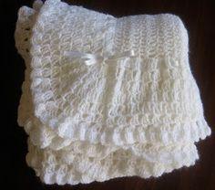 Mel P Designs: Vintage Baby Blanket-link to free pattern Crochet Baby Shawl, Crochet Baby Blanket Beginner, Crochet Blanket Patterns, Crochet Stitches, Baby Knitting, Free Crochet, Knit Crochet, Knitting Patterns, Crochet Afghans