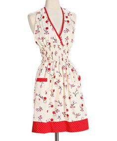 Take a look at this Cherry Soda Loretta Halter Apron - Women by asd living on #zulily today!