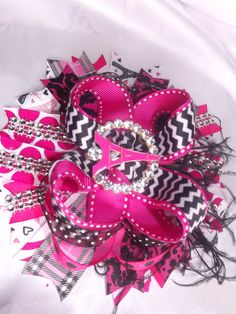 Ohh La la #paris Bling hair bow for those little chic princess' out there.  10.25 at The Gaudy Girl Exchange FB page
