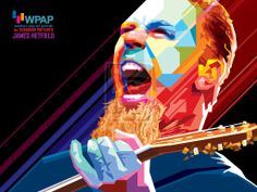 Poster do James Hetfield Metallica Pop Arts no James Hetfield, Amy Winehouse, Arte Pop, Cristiano Ronaldo, Eminem, Michael Jackson, Heavy Metal, Metallica Art, Pop Art Portraits