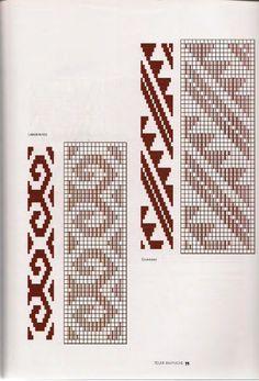 Manual de tejido por María Mastandrea Crochet Chart, Crochet Patterns, Inkle Weaving Patterns, Willow Weaving, Textiles, Embroidery Stitches, Cross Stitch Patterns, Tapestry, Brickwork